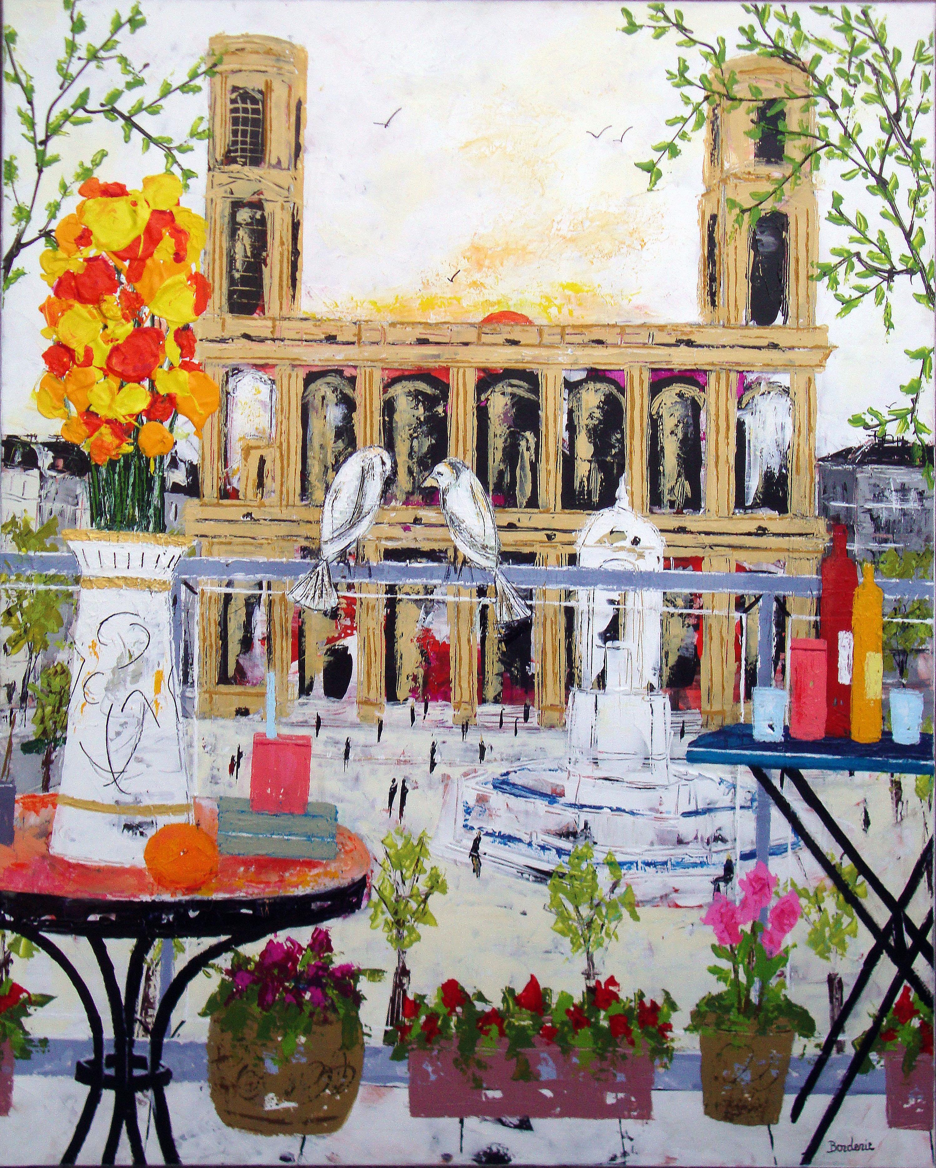 Balcon devant l'eglise St Sulpice (Paris) 116X89
