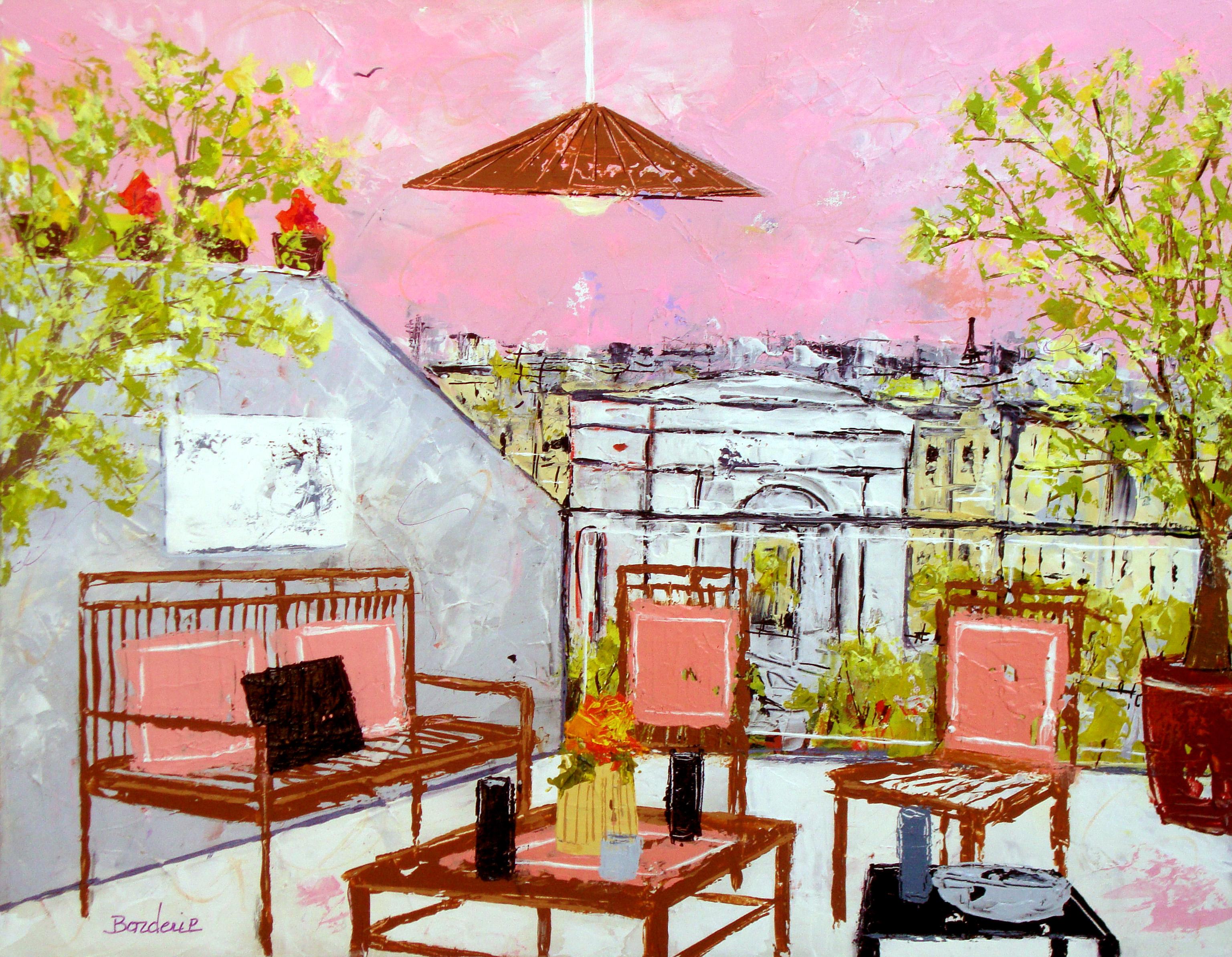 Ciel rose sur Paris 10F