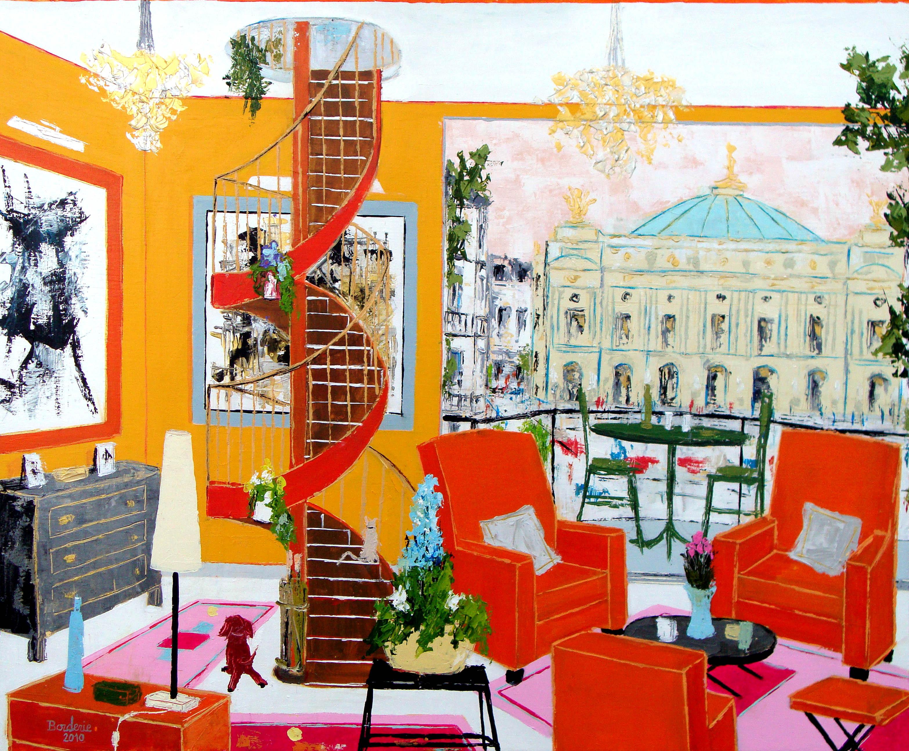 Salon face à l'Opéra de Paris.