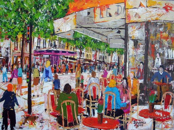 Café rue de Rivoli.