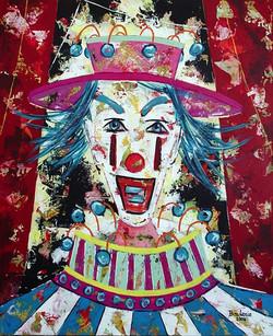 Le clown bleu.