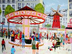 Le manege devant le Moulin rouge 60F.jpg