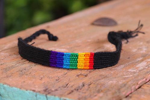 Black Amiga Band W/ Rainbow