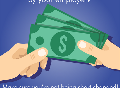 Are you being paid in cash by your Employer?