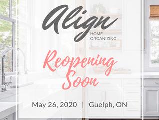 Reopening May 26, 2020