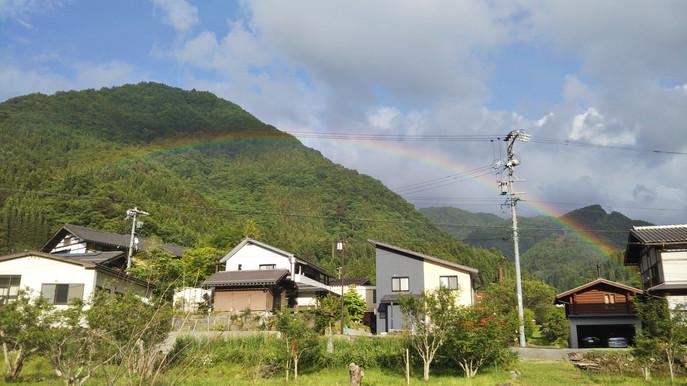 虹がかかりました