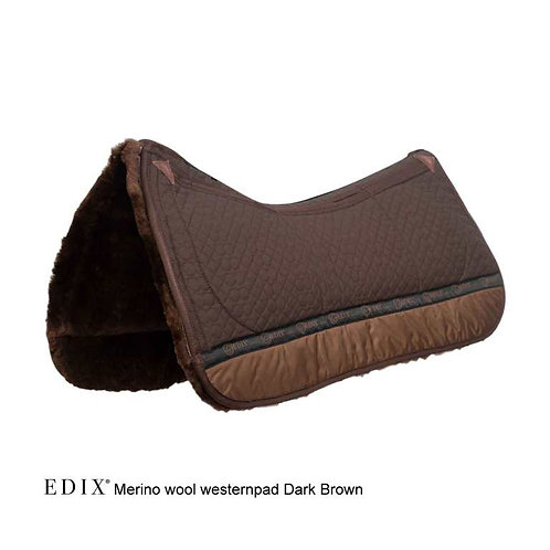 Edix 8 pocket Merino Western pad Brown
