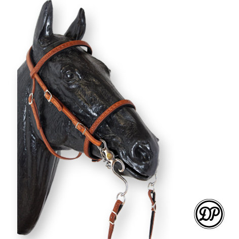 Soft Feel Baroque Headstall with Tooling