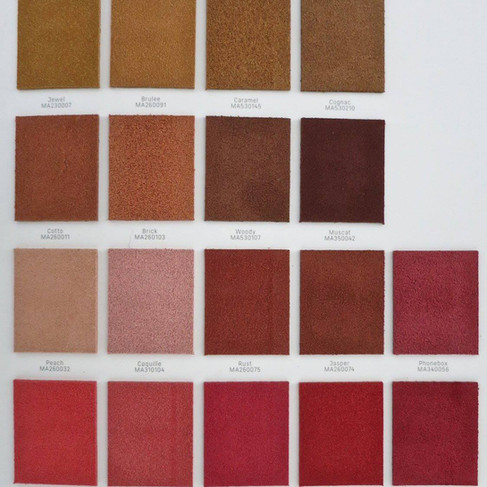 Suede colours: real suede 3