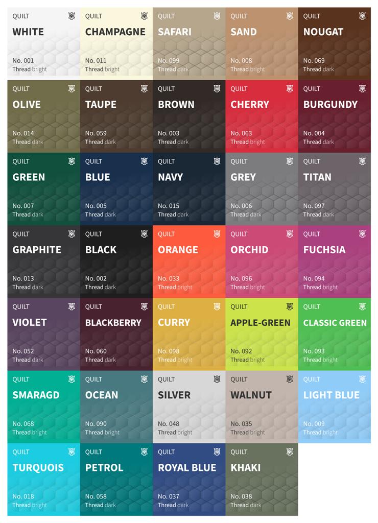 Cotton Quilt Colours