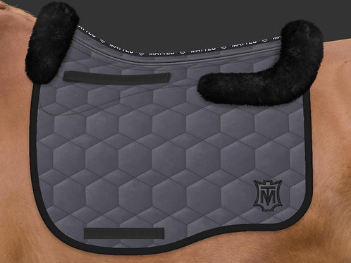 Mattes Eurofit Dressage Saddle Pad + Sheepskin Trim + Panels + Correction System