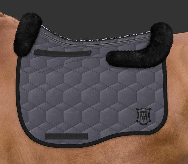 Mattes Eurofit Dressage Saddle Pad + Sheepskin Trim + Panels + Correction System