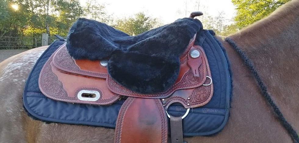 EDIX Sheepskin Western Saddle Seat Saver