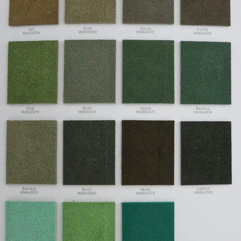 Suede colours: real suede 4
