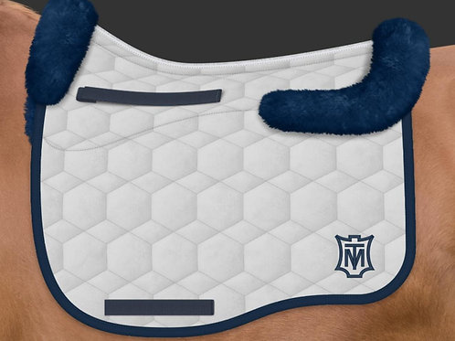 Mattes Eurofit Dressage Saddle Pad + Sheepskin Trim + Panels