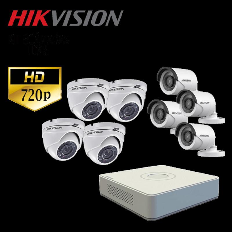 kit-hik-vision-de-8-camaras-dvr-8-ch-resolucion-720p-camara-domo-camara-tubo-disco-duro-1tb-converti