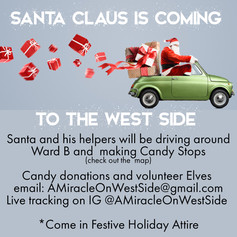 Santa Claus is coming to the West Side