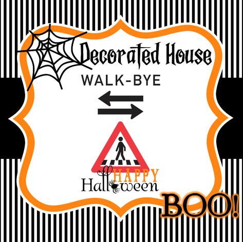 Walk Bye -  Decorated Halloween House Map