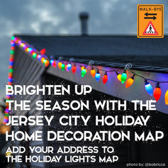 crowdsourced map for lights, decorations, and events in Jersey City for the holiday season for those of us who are looking for safe outdoor ways to still feel festive.