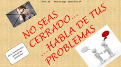 NO SEAS CERRADO HABLA DE TUS PROBLEMAS (