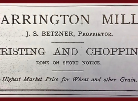 Mill owner's advertisement from 1863