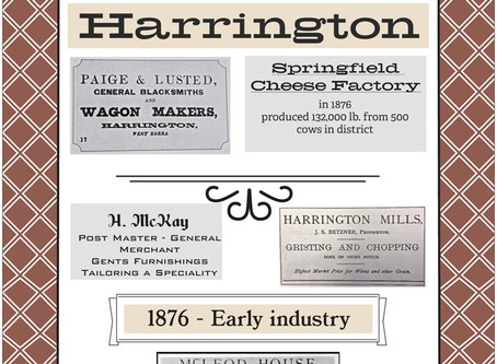 Harrington businesses - 1876