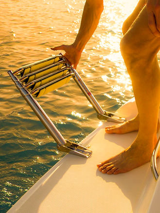 Snap-On Treads on Boat Ladder