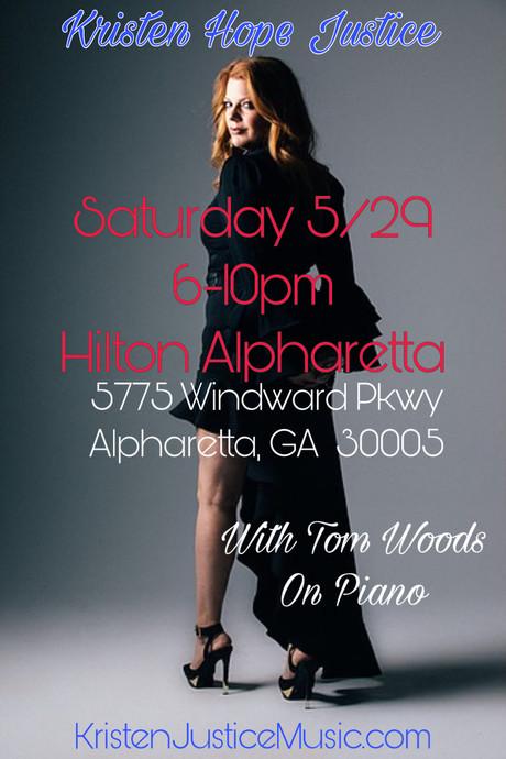 Hilton Alpharetta, Saturday May 29th, 6-10pm