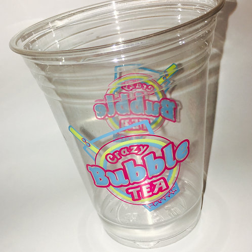 Crazy Bubble Tea Logo 16oz Cup (50 ct)