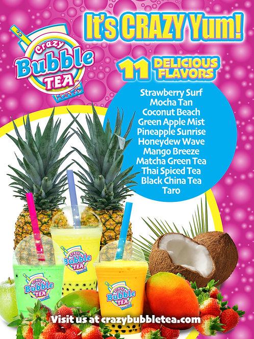 Free Crazy Bubble Tea Promo Poster
