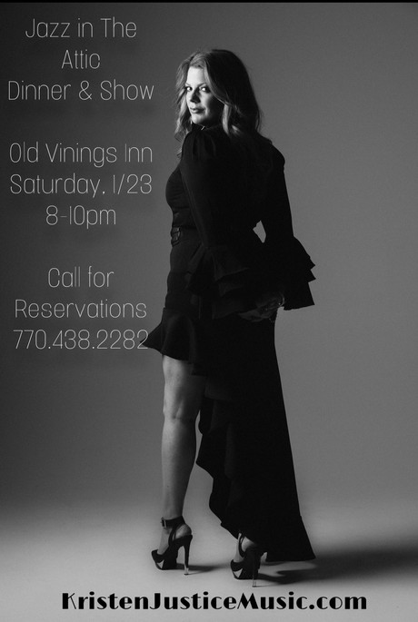 Jazz in The Attic, Old Vinings Inn, Saturday, January 23rd, 8-10pm