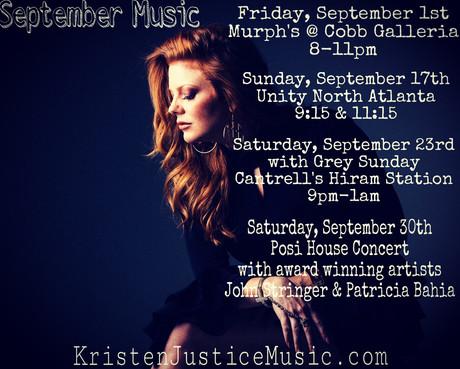 🎵🎶September Music 🎶🎵                   Tonight! Friday, September 1st