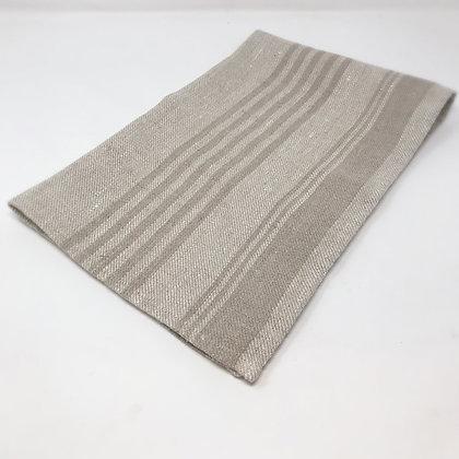 Striped Linen Tea Towel Natural