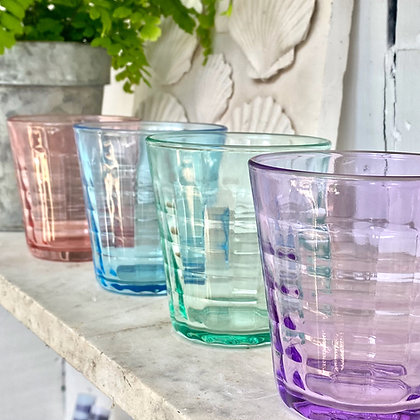 Duralex Prisme Coloured Glasses -Set of 4