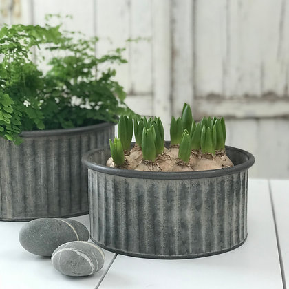 Zinc Ribbed Tub -Two Sizes