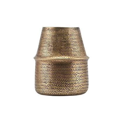 Oblong Brass Finish Aluminium Rattan Planter