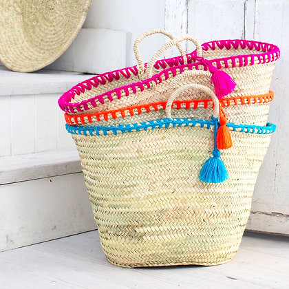 Mexican Tassel Baskets