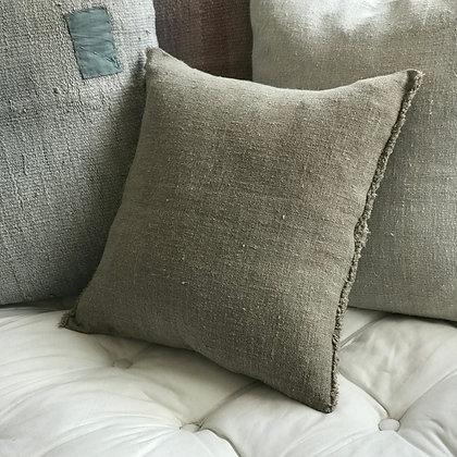 Rustic Fringe Linen Cushion Cover