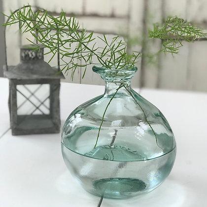 Organic Recycled Glass Bottle Vase