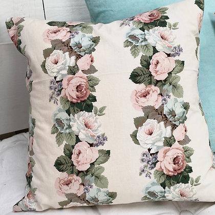 Vintage Rose Stripe CushionCover