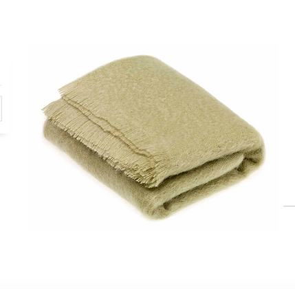 Mohair blanket- Sage Green