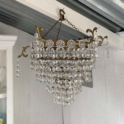 Vintage Three Tier Waterfall Chandelier