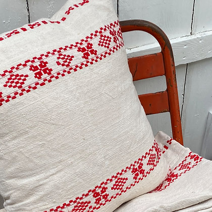 Vintage Eastern European Folk Embroidery Cushion Cover