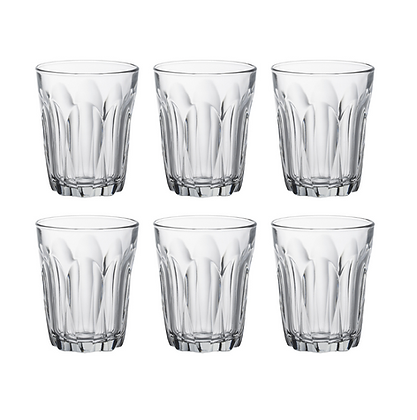 Set of Six Duralex Provence Bistro Glasses- Large 22cl