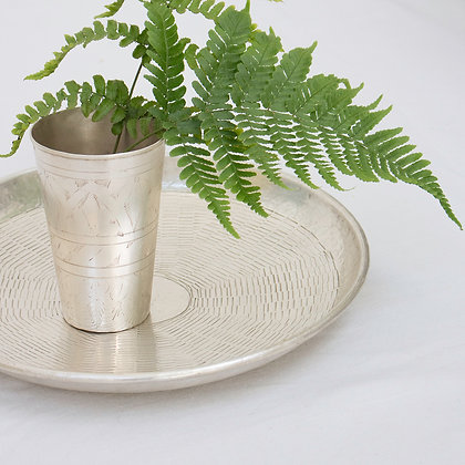 Basket Weave Silver Tray-small
