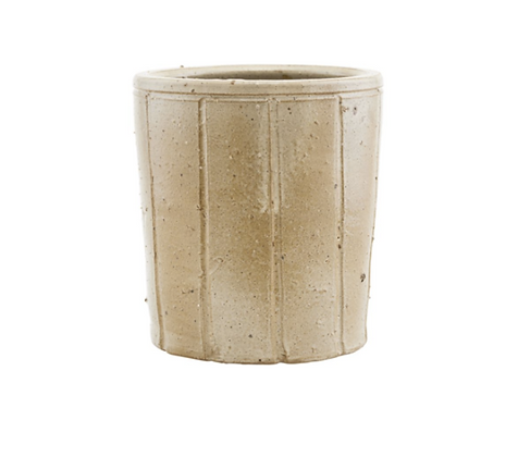 Small Beige Clay and Glaze Julian Flowerpot Holder