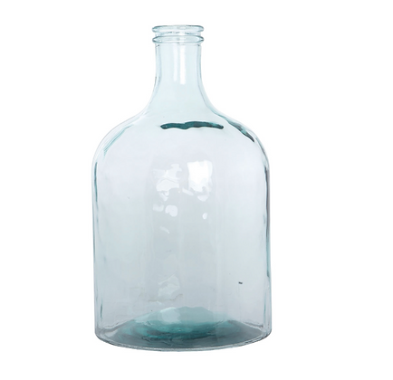 Recycled Bottle Vase- Straight Sides