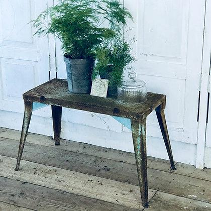 Vintage Rusty Blue Side Table