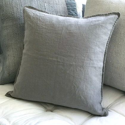 Linen Cushion Cover-Taupe