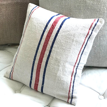 Antique Linen Grain Sack Cushion Cover
